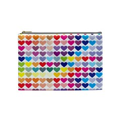 Heart Love Color Colorful Cosmetic Bag (medium)  by Nexatart