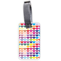 Heart Love Color Colorful Luggage Tags (one Side)