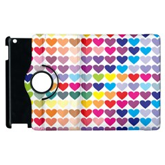 Heart Love Color Colorful Apple Ipad 3/4 Flip 360 Case