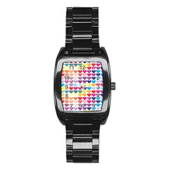 Heart Love Color Colorful Stainless Steel Barrel Watch