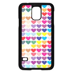 Heart Love Color Colorful Samsung Galaxy S5 Case (black)