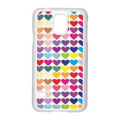 Heart Love Color Colorful Samsung Galaxy S5 Case (white) by Nexatart