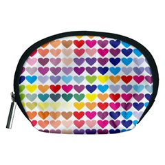 Heart Love Color Colorful Accessory Pouches (medium)  by Nexatart