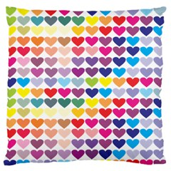 Heart Love Color Colorful Standard Flano Cushion Case (two Sides) by Nexatart