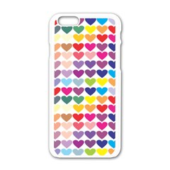 Heart Love Color Colorful Apple Iphone 6/6s White Enamel Case by Nexatart