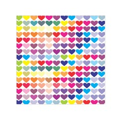 Heart Love Color Colorful Small Satin Scarf (square) by Nexatart