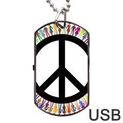 Male Man Boy Masculine Sex Gender Dog Tag Usb Flash (one Side)