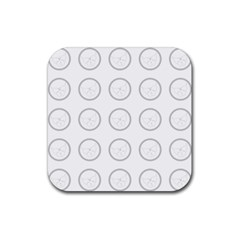 Butterfly Wallpaper Background Rubber Square Coaster (4 Pack)