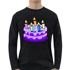 Cake Happy Birthday Long Sleeve Dark T Shirts
