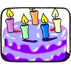 Cake Happy Birthday Fleece Blanket (mini)