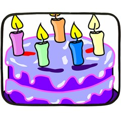 Cake Happy Birthday Double Sided Fleece Blanket (mini)  by Nexatart