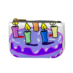 Cake Happy Birthday Mini Coin Purses by Nexatart