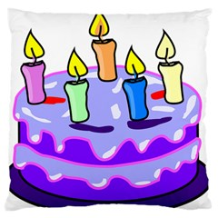 Cake Happy Birthday Standard Flano Cushion Case (two Sides) by Nexatart