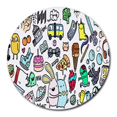 Story Of Our Life Round Mousepads by Nexatart