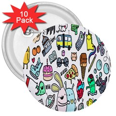 Story Of Our Life 3  Buttons (10 Pack)  by Nexatart