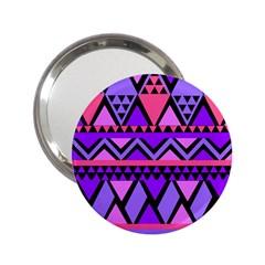Seamless Purple Pink Pattern 2 25  Handbag Mirrors
