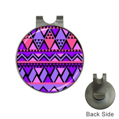 Seamless Purple Pink Pattern Hat Clips With Golf Markers