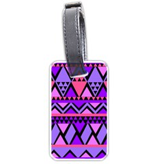 Seamless Purple Pink Pattern Luggage Tags (one Side)