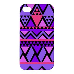 Seamless Purple Pink Pattern Apple Iphone 4/4s Hardshell Case