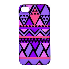 Seamless Purple Pink Pattern Apple Iphone 4/4s Hardshell Case With Stand