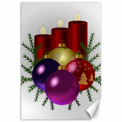 Candles Christmas Tree Decorations Canvas 12  X 18