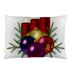 Candles Christmas Tree Decorations Pillow Case by Nexatart