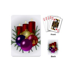 Candles Christmas Tree Decorations Playing Cards (mini)  by Nexatart