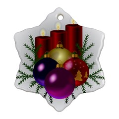 Candles Christmas Tree Decorations Ornament (snowflake)