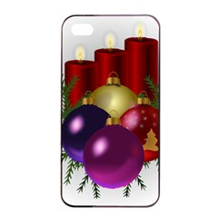Candles Christmas Tree Decorations Apple Iphone 4/4s Seamless Case (black)