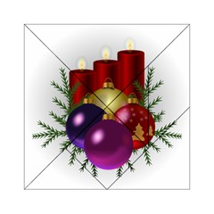 Candles Christmas Tree Decorations Acrylic Tangram Puzzle (6  X 6 )