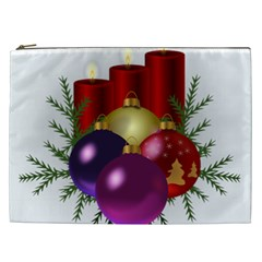 Candles Christmas Tree Decorations Cosmetic Bag (xxl)  by Nexatart