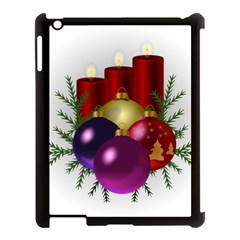 Candles Christmas Tree Decorations Apple Ipad 3/4 Case (black)