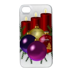 Candles Christmas Tree Decorations Apple Iphone 4/4s Hardshell Case With Stand