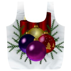 Candles Christmas Tree Decorations Full Print Recycle Bags (l)