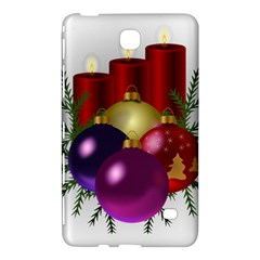 Candles Christmas Tree Decorations Samsung Galaxy Tab 4 (8 ) Hardshell Case  by Nexatart