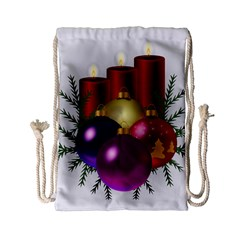 Candles Christmas Tree Decorations Drawstring Bag (small)