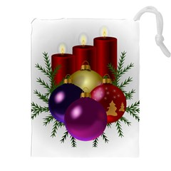 Candles Christmas Tree Decorations Drawstring Pouches (xxl) by Nexatart