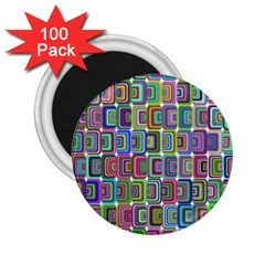 Psychedelic 70 S 1970 S Abstract 2 25  Magnets (100 Pack)  by Nexatart