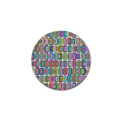 Psychedelic 70 S 1970 S Abstract Golf Ball Marker (4 Pack)