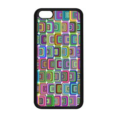 Psychedelic 70 S 1970 S Abstract Apple Iphone 5c Seamless Case (black)