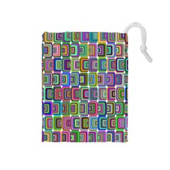 Psychedelic 70 S 1970 S Abstract Drawstring Pouches (medium)  by Nexatart