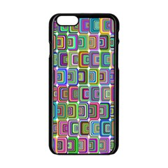 Psychedelic 70 S 1970 S Abstract Apple Iphone 6/6s Black Enamel Case by Nexatart