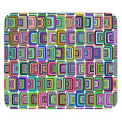 Psychedelic 70 S 1970 S Abstract Double Sided Flano Blanket (small)