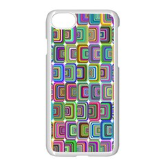 Psychedelic 70 S 1970 S Abstract Apple Iphone 7 Seamless Case (white) by Nexatart