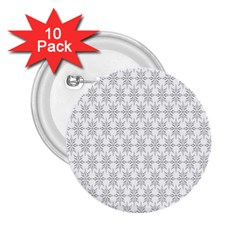 Ornamental Decorative Floral 2 25  Buttons (10 Pack)