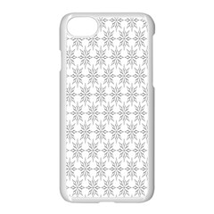 Ornamental Decorative Floral Apple iPhone 7 Seamless Case (White) by Nexatart