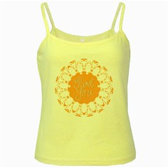 Mandala I Love You Yellow Spaghetti Tank