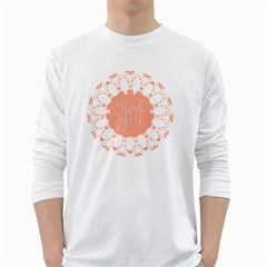 Mandala I Love You White Long Sleeve T Shirts