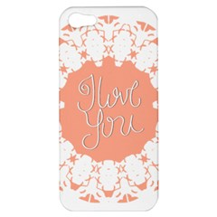 Mandala I Love You Apple Iphone 5 Hardshell Case