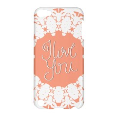 Mandala I Love You Apple Ipod Touch 5 Hardshell Case by Nexatart